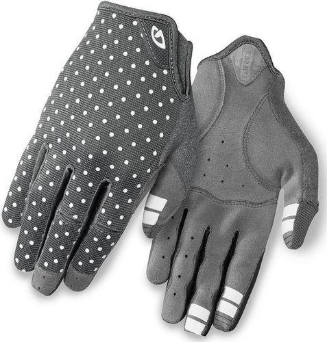 GIRO Rękawiczki damskie GIRO LA DND długi palec dark shadow white dots roz. XL (obwód dłoni 205-210 mm / dł. dłoni 196-205 mm) (NEW)