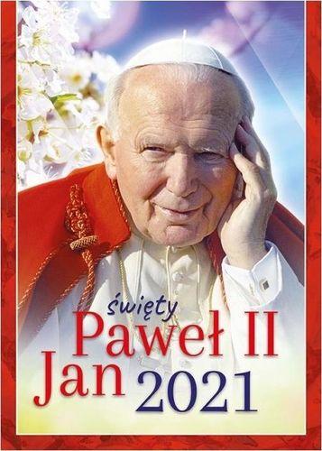 Wydawnictwo Duszpasterstwa Rolników Kalendarz 2021 Ścienny św.Jan Paweł II ekonomiczny