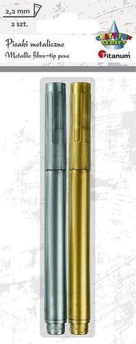 Titanum Pisak metaliczny złoty + srebrny