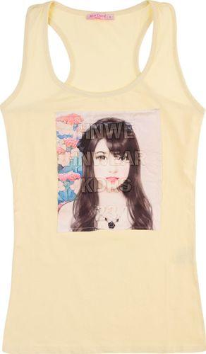 TXM TXM T-shirt damski na ramiączkach S JASNY ŻÓŁTY