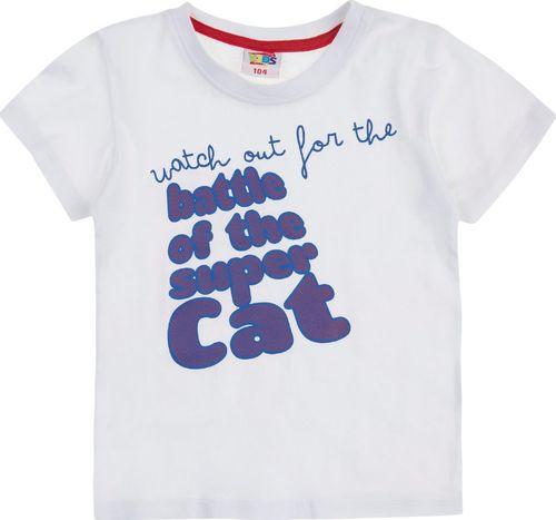 TXM TXM t-shirt chłopięcy 116 BIAŁY