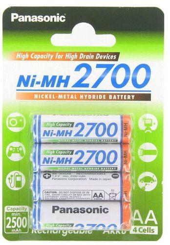 Panasonic Akumulator Ni-Mh, AA,  2700mAh, 4 sztuki ( 001540230000)