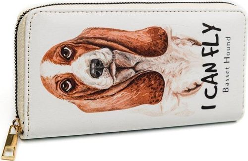 PELLUCCI Duży kolorowy portfel damski piórnik eko suwak uniwersalny