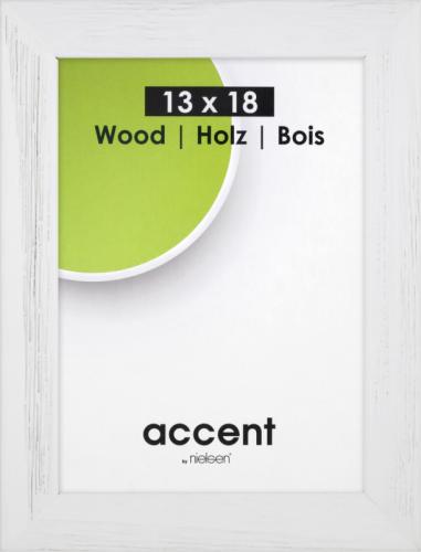 Ramka Nielsen Design Accent Magic 13x18 Wooden biała ramka (9732000)