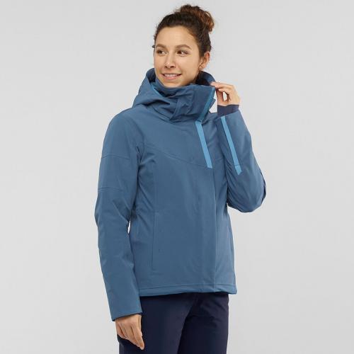 Salomon Kurtka damska Speed Jacket W dark Denim/Copen Blue r. XL