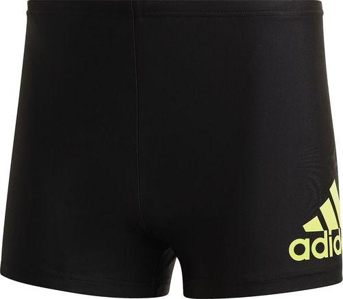 Adidas Spodenki kąpielowe męskie adidas Fitness Badge Boxers czarne FS3402 : Rozmiar - 4