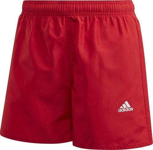 Adidas Spodenki kąpielowe dla dzieci adidas YB Bos shorts czerwone GE2048 : Rozmiar - 164cm