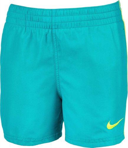 Nike Spodenki kąpielowe dla dzieci Nike Essential Lap Junior turkusowe NESSA778 376 : Rozmiar - S