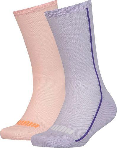 Puma Skarpety dla dzieci Puma Mesh Sock 2 pary fioletowe, brzoskwiniowe 907628 02 : Rozmiar - 35-38