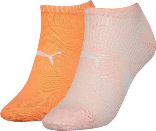 Puma Skarpety damskie Puma Sneaker Structure 2 pary brzoskwiniowe, pomarańczowe 907620 01 : Rozmiar - 39-42