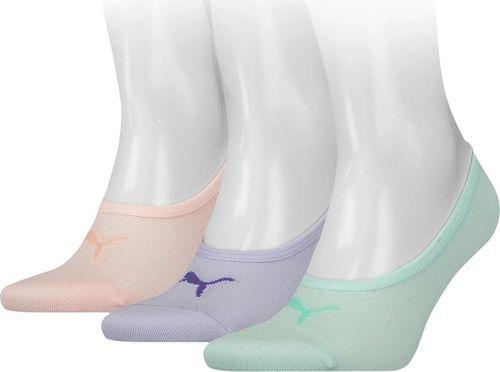 Puma Skarpety Puma Footie 3 pary fioletowe, różowe, miętowe 906930 21 : Rozmiar - 39-42