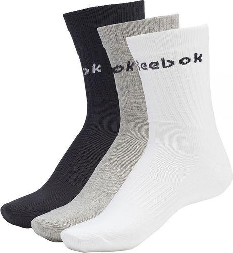 Reebok Skarpety Reebok Active Core Mid Crew S 3pack białe, szare, czarne GC8669 : Rozmiar - 46-48