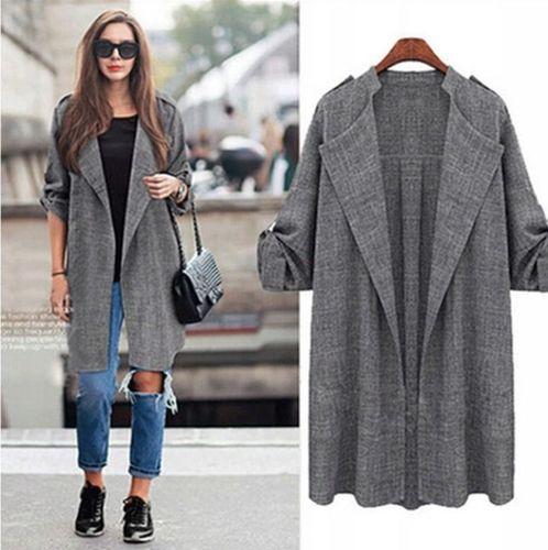Alexiss Klasyczny jesienny płaszcz damski