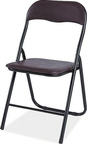 SELSEY Krzesło tapicerowane Tildare brązowe