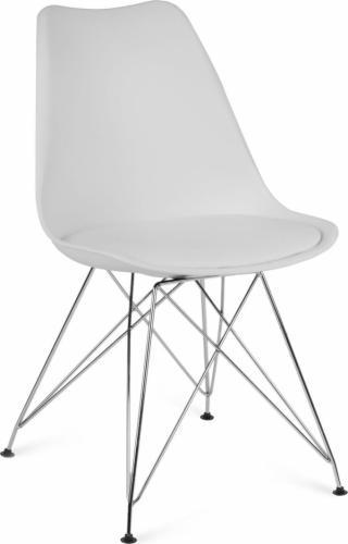 Sofotel Nowoczesne krzesło skandynawskie Sofotel Kapra - białe