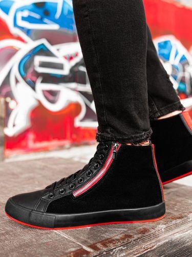 Ombre Trampki męskie sneakersy T354 - czarne 40