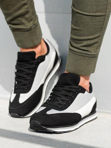 Ombre Buty męskie sneakersy T349 - czarne 43 (15900-W) - 15900-W