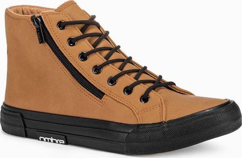 Ombre Trampki męskie sneakersy T352 - camel 40