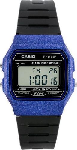 Zegarek Casio ZEGAREK MĘSKI CASIO F-91WM-2ADF (zd102e)