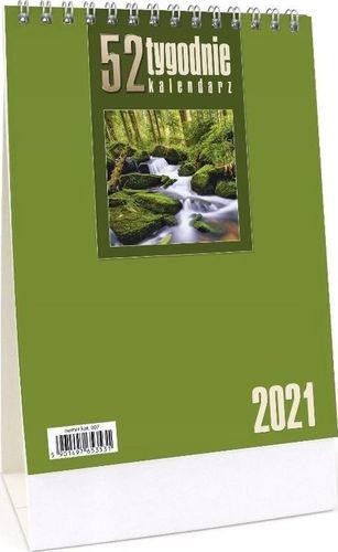 CRUX Kalendarz 2021 Biurkowy - 52T jasnozielony CRUX