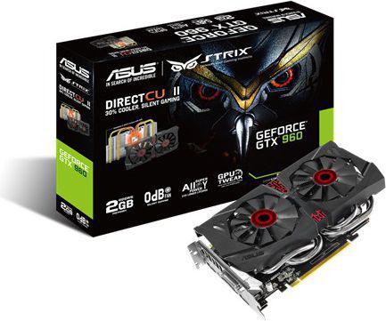 Karta graficzna Asus GeForce GTX 960 DC2 Strix 2GB DDR5 (128 bit) DVI, HDMI, 3x DP (STRIX-GTX960-DC2-2GD5)