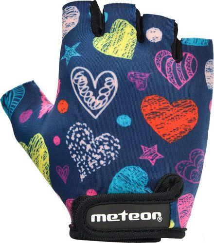 Meteor RĘKAWICZKI ROWEROWE METEOR JUNIOR HEARTS XS
