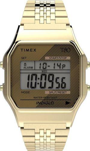 Zegarek Timex Zegarek Timex TW2R79200 T80 Retro Style Indiglo uniwersalny