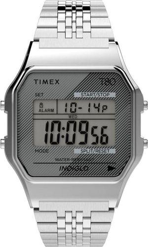 Zegarek Timex Zegarek Timex TW2R79300 T80 Retro Style Indiglo uniwersalny