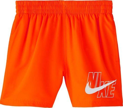 Nike Spodenki kąpielowe dla dzieci Nike Logo Solid Lap Junior pomarańczowe NESSA771 822 S