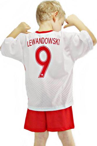 Reda Komplet piłkarski Reda Polska Robert Lewandowski junior biało-czerwony 116