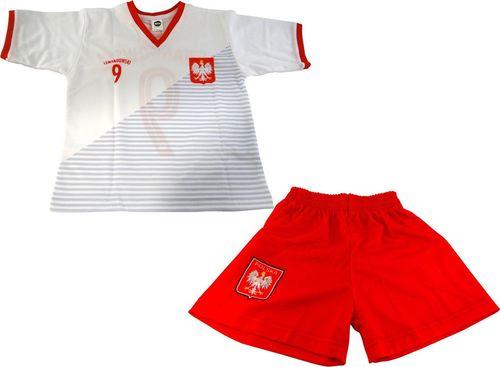 Reda Komplet piłkarski Reda Polska Lewandowski 2018 junior biało-czerwony 152