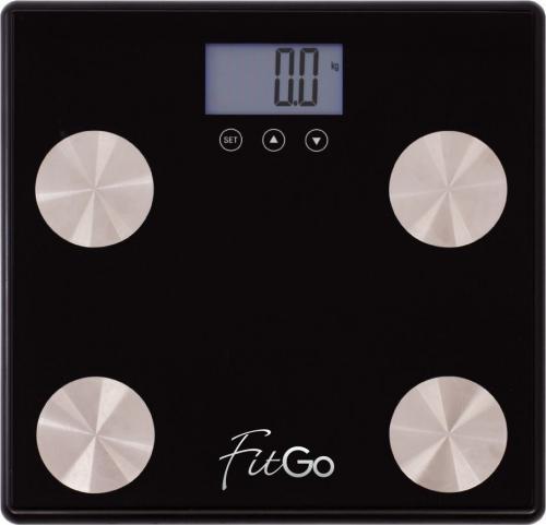 Waga łazienkowa FitGo czarna SA-B89