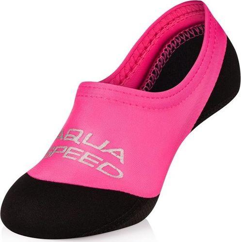 Aqua-Speed Skarpetki dziecięce na basen, plażę NEO różowo-czarne Aqua Speed Rozmiar 22-23