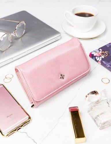 Milano Design Stylowy portfel damski Milano Design różowy