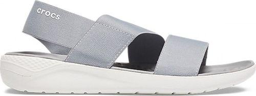 Crocs Crocs sandały LiteRide Stretch Sandal W jasnoszaro-białe 206081 00J : Rozmiar - 36-37