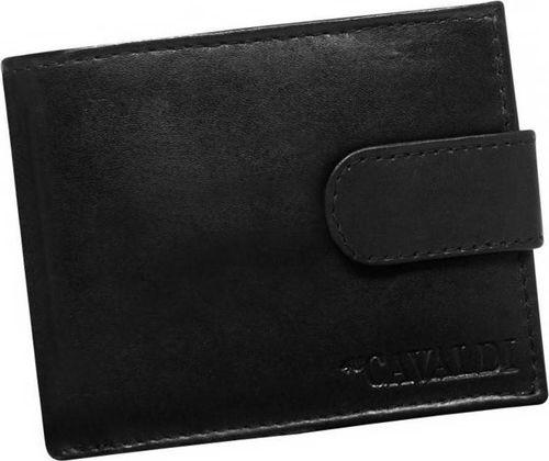 4U Cavaldi Skórzany portfel męski mały zapinany RFID Cavaldi uniwersalny