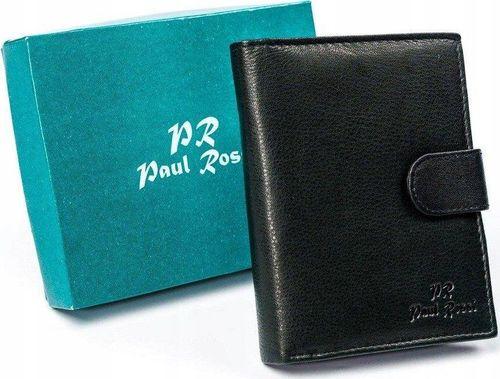 PELLUCCI Skórzany portfel skórzany, pionowy, składany na zatrzask Paul Rossi uniwersalny