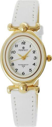 Zegarek Perfect damski L036 owalny złoto-biały
