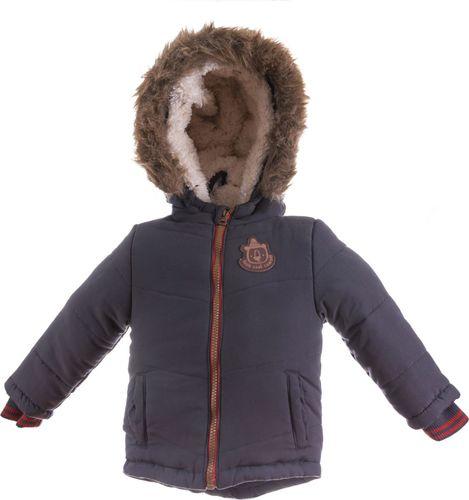 Pepco PEPCO Kurtka zimowa futerko chłopięca 86 szara