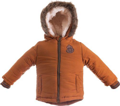 Pepco PEPCO Kurtka zimowa futerko chłopięca 86 brązowa
