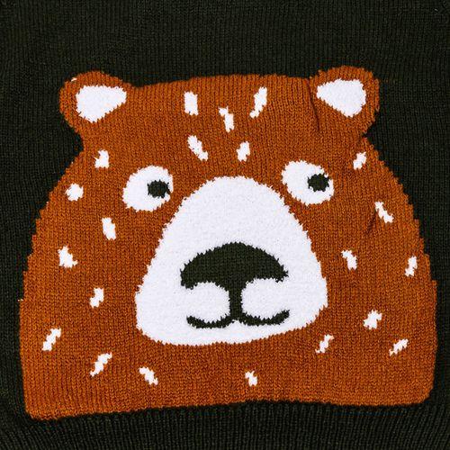 Pepco PEPCO Sweter chłopięcy zwierzak 122 zielony
