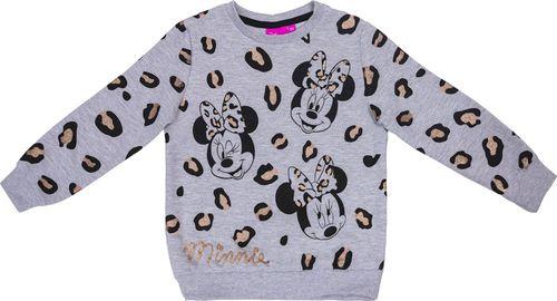 Pepco PEPCO Bluza dziewczęca myszka Minnie 128 szary melanż