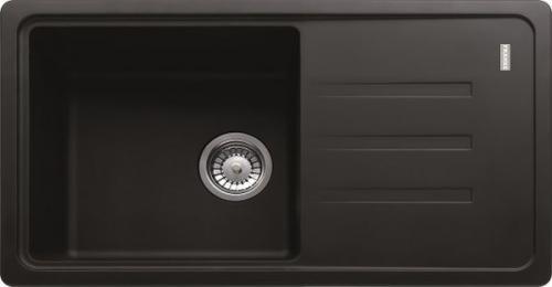 Franke Zlewozmywak 1-komorowy BSG 611 z ociekaczem 78 x 43,5cm onyx (114.0367.749)