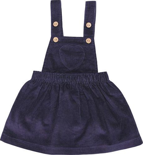 PEPCO PEPCO Zestaw sztruksowa sukienka i T-shirt 98 beżowy