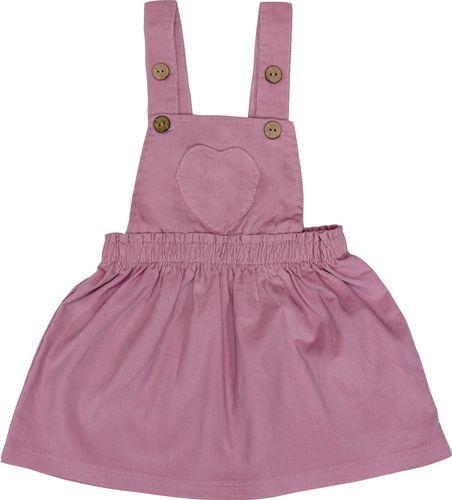 PEPCO PEPCO Zestaw sztruksowa sukienka i T-shirt 74 róż