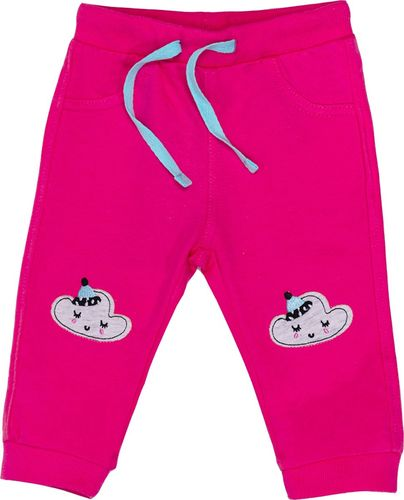 Pepco PEPCO Spodnie sportowe dziewczęce 74 różowy