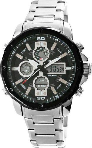 Zegarek Perfect Zegarek Męski Perfect A8026B-2 Dual Time Iluminacja i Fluorescencja uniwersalny