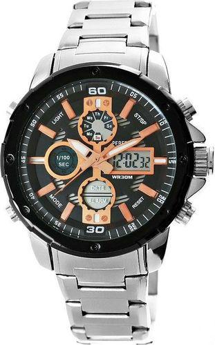 Zegarek Perfect Zegarek Męski Perfect A8026B-1 Dual Time Iluminacja i Fluorescencja uniwersalny
