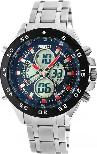 Zegarek Perfect Zegarek Męski Perfect LCD Ilumination Dual Time A818 uniwersalny