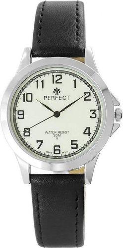 Zegarek Perfect męski 34 fluorescencja czarno-biały